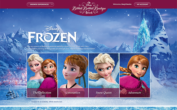 Disney Frozen Experience at Harrods